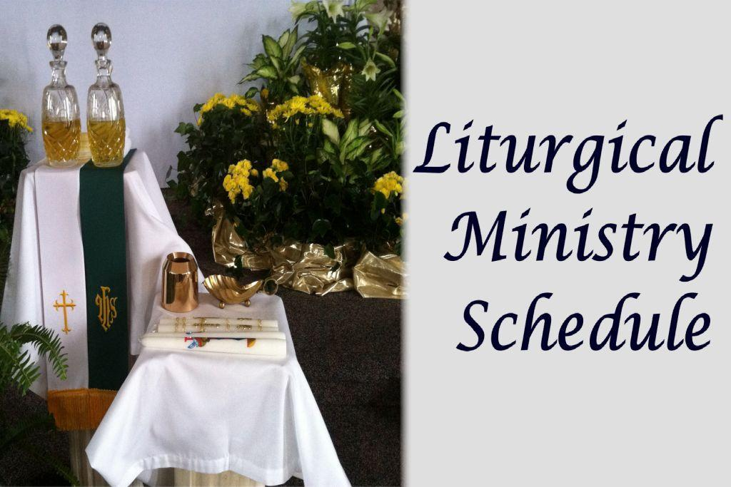 Liturgical Ministries Schedule