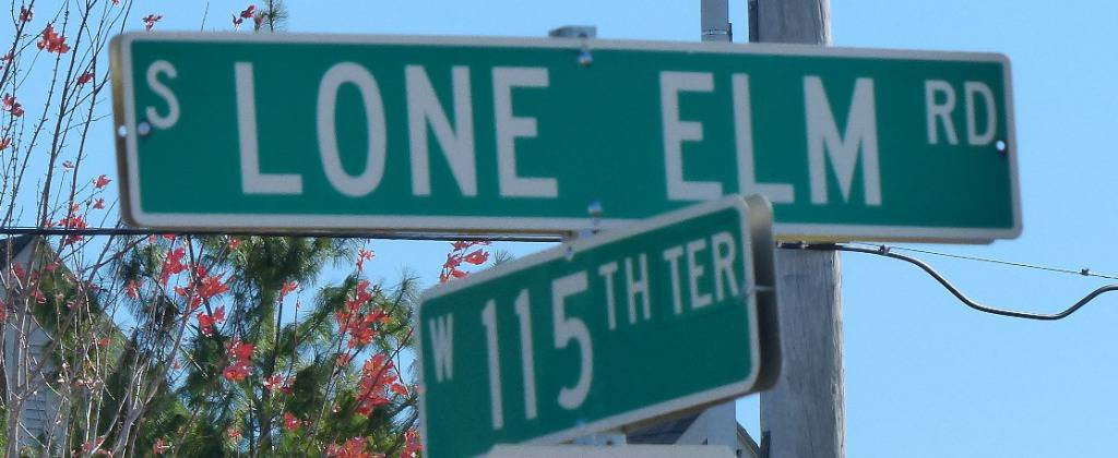 115th and Lone Elm Sign
