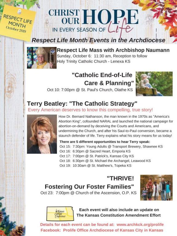 Respect Life Month Flyer