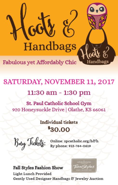 Hoots and Handbags Flyer