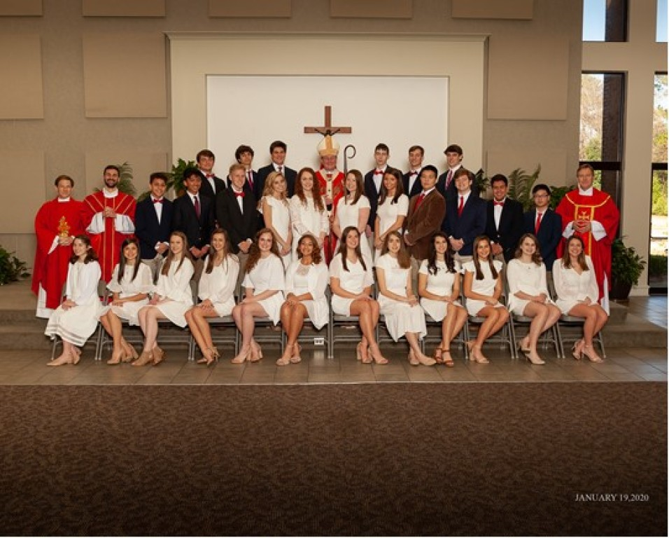 Confirmation Class of 2019 Group Photo