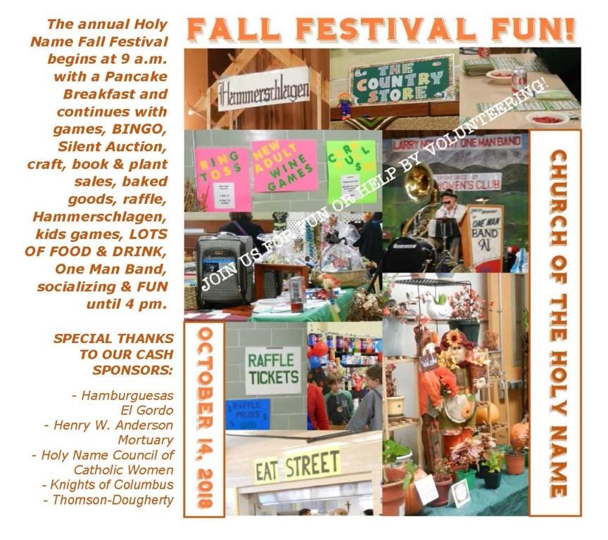 church fall festival names