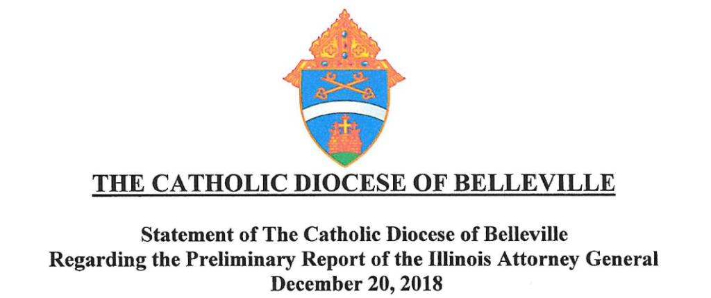 Statement of The Catholic Diocese of Belleville
