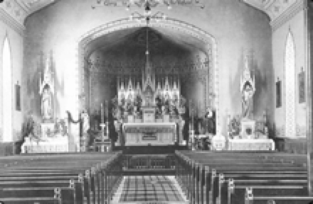1895 Church interior