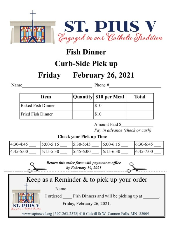 Fish Fry order form