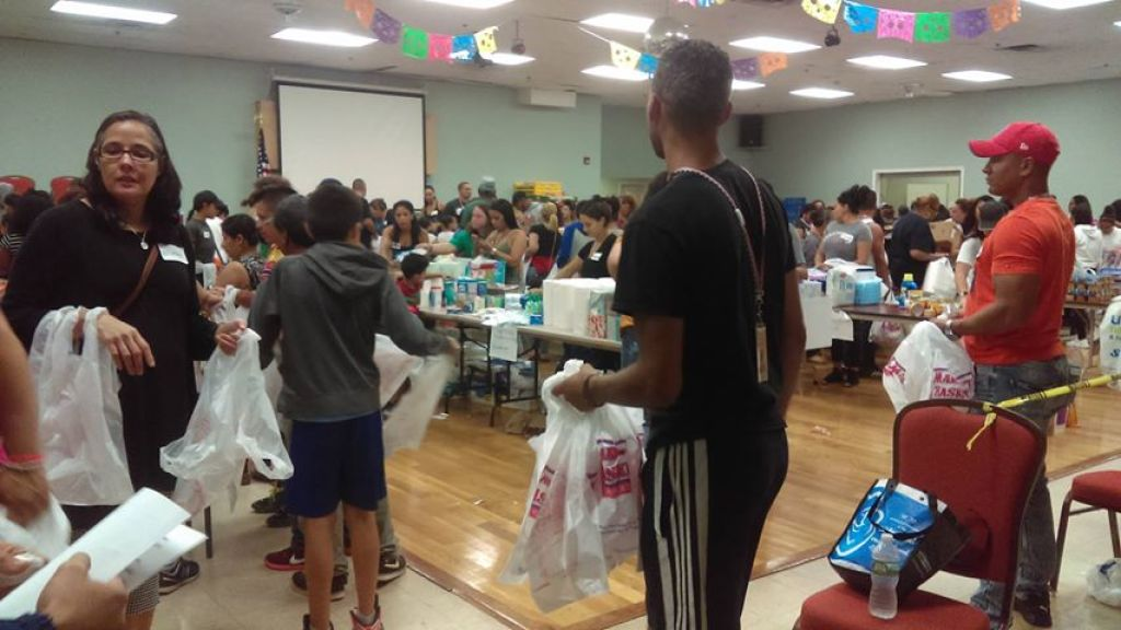 Lawrence Community Center filled with donations