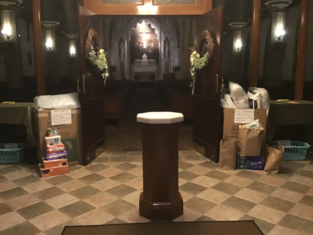 IC Church donation boxes