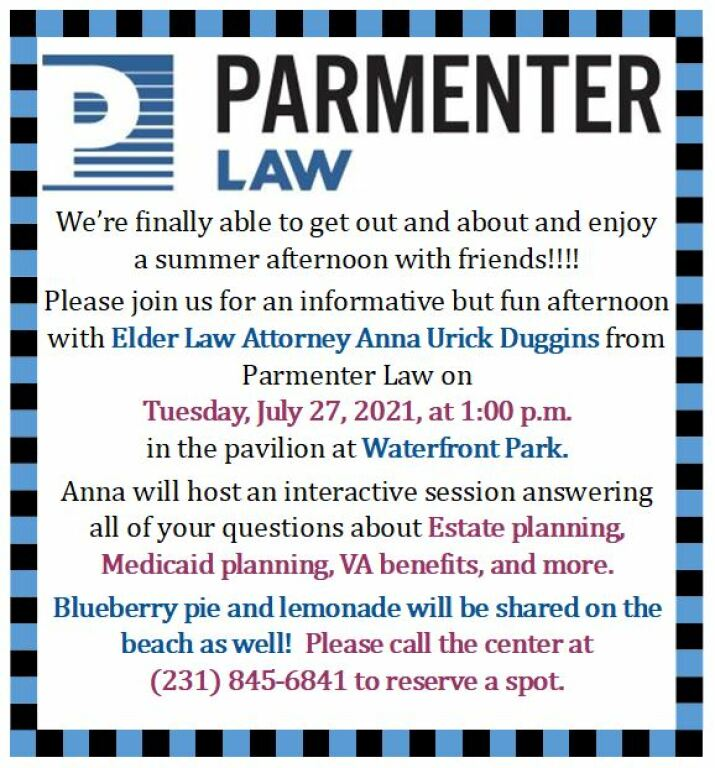 Join Anna Urick Duggins from Parmenter Law for an interactive, questions and answers session about Estate Planning, Medicaid Planning, VA benefits and more. Come and get all your questions answered. Come for the discussion, stay for the refreshments.