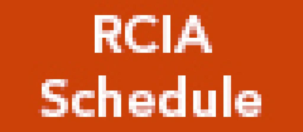 RCIA Schedule