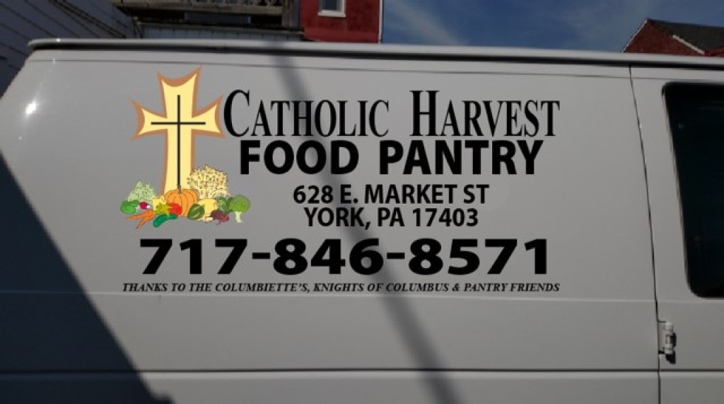 This new van for the Catholic Harvest Food Pantry is the result of the generous donations from Catholic Parishes, the Columbiettes and the Knights of Columbus councils in York County, PA.