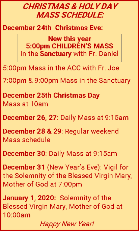 Christmas Assistance Programs List 2020.Church Of The Ascension