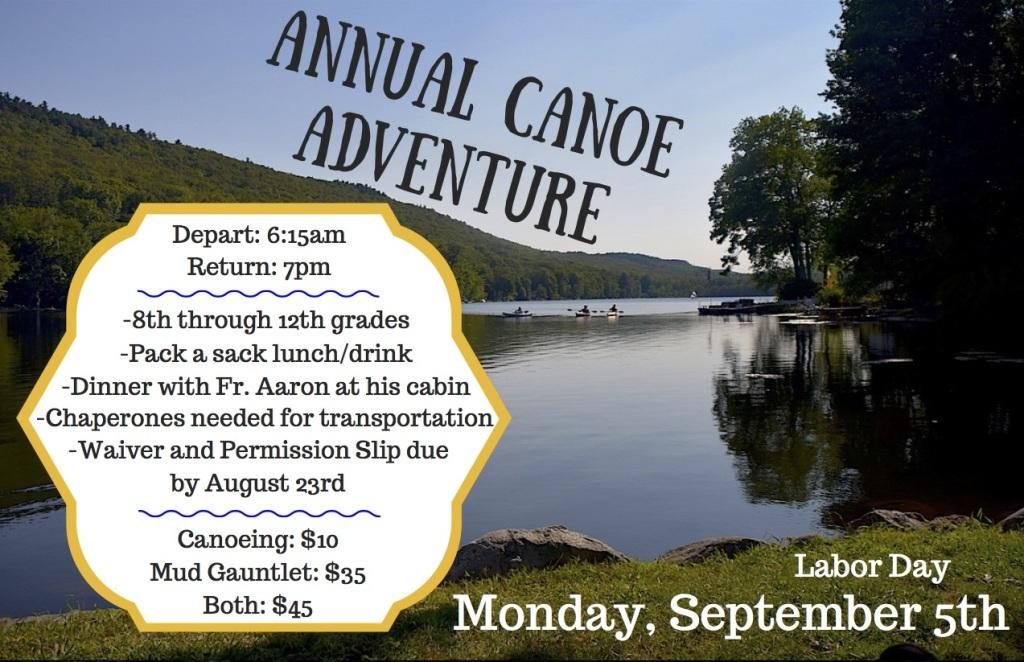 2017 Youth Canoe Trip