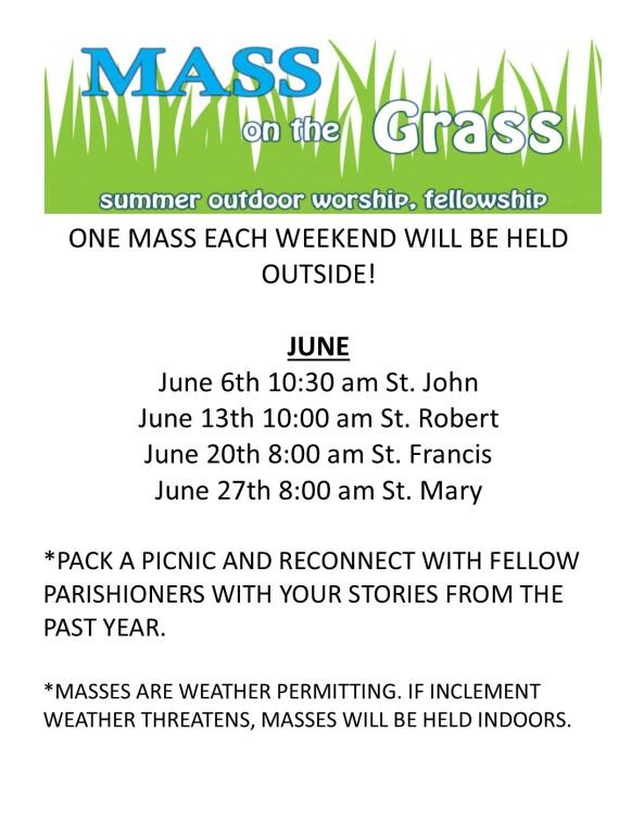 Mass in the Grass