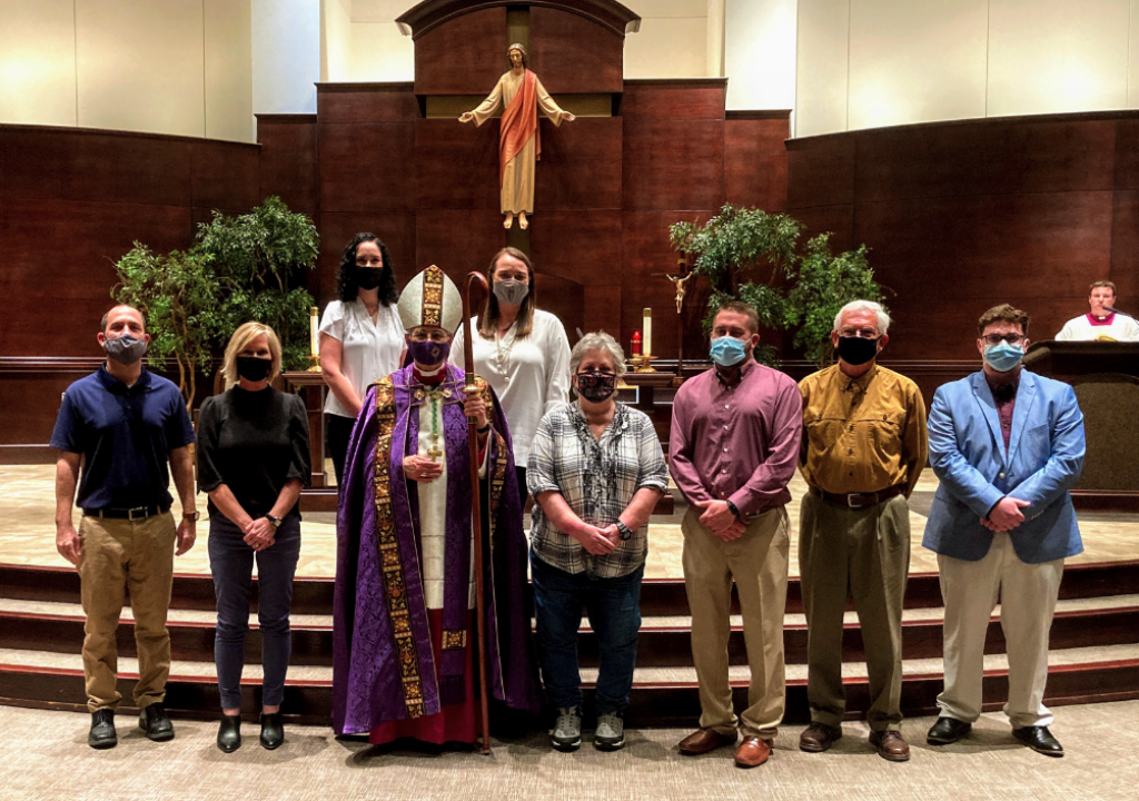 Candidates for Confirmation 2021 with Bishop Raica