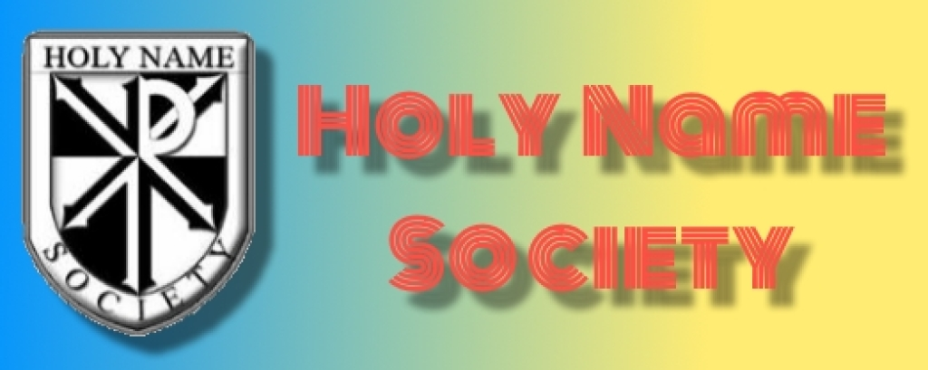 Holy Name Society Banner