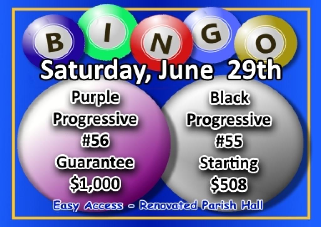 Bingo Flier for 06-29