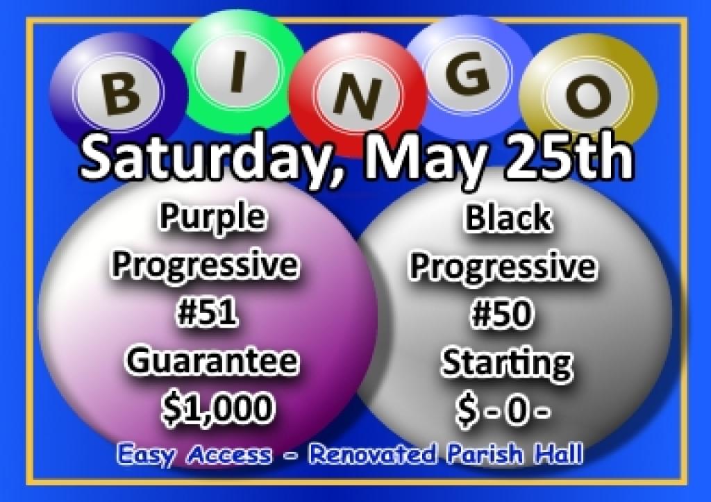 Bingo Flier for 5-11