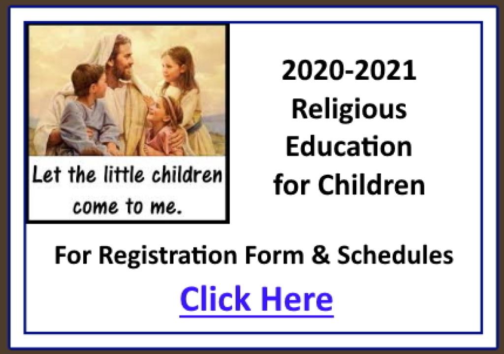 Flier for Religious Education for Children