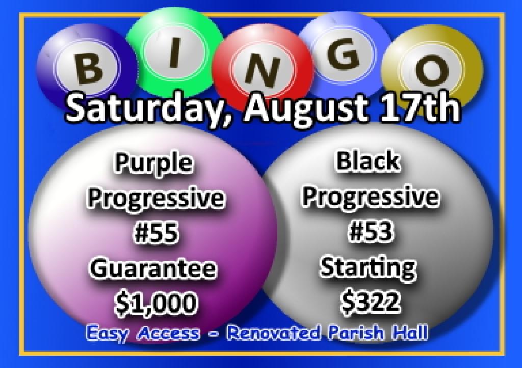 Bingo Flier for 07027