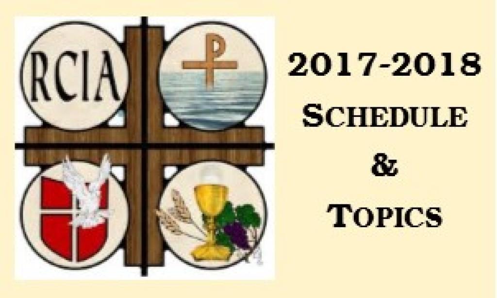 RCIA 2017-2018 Schedule & Topics
