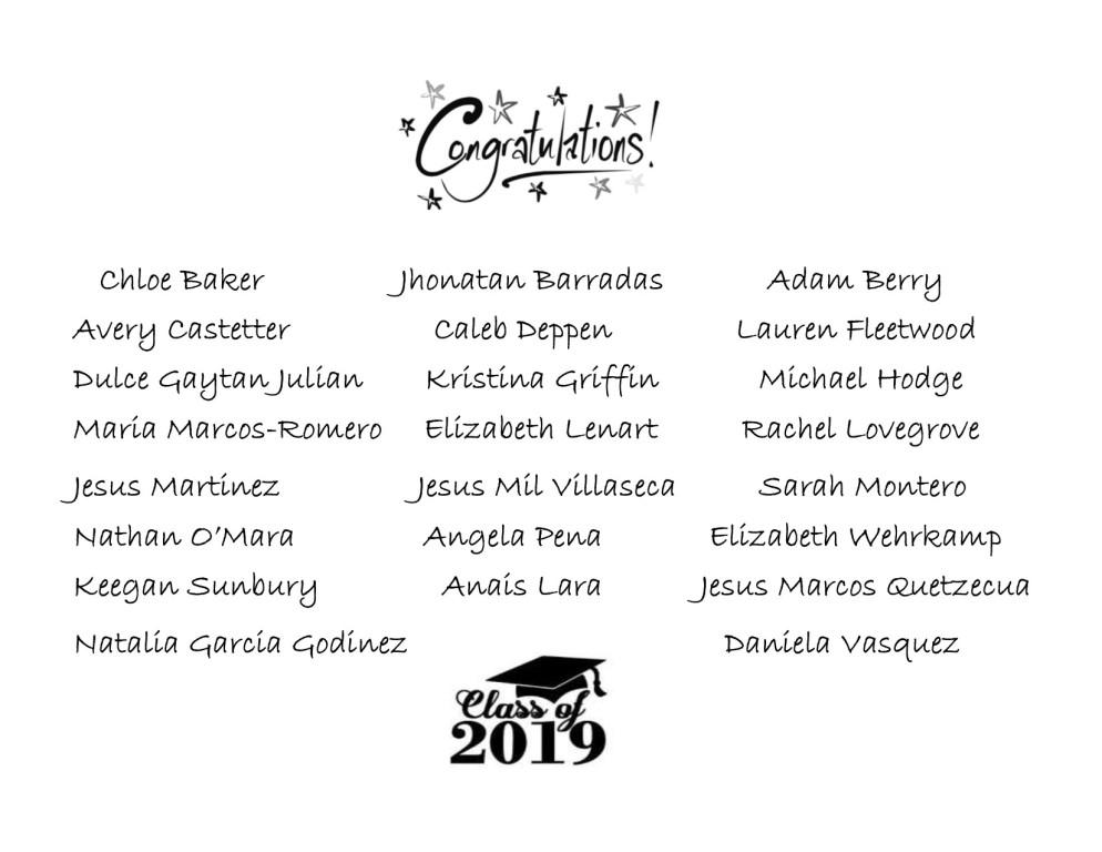 2019 Seniors