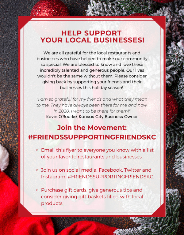 Friends Supporting Friends Flyer Image