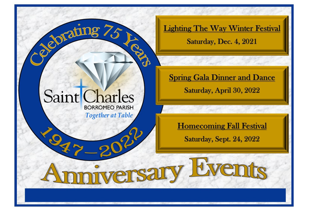 St. Charles Borromeo 75th Anniversary Events Promo Image