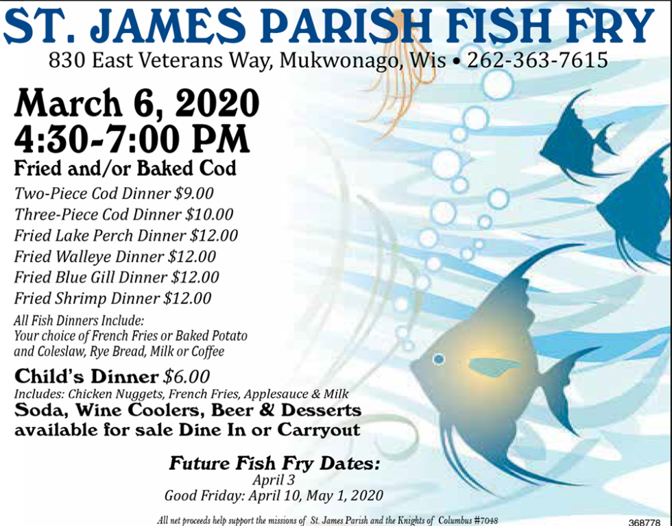 March 6 Fish Fry