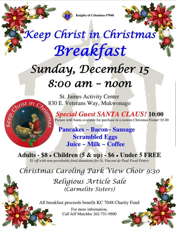 Keep Christ in Christmas Breakfast