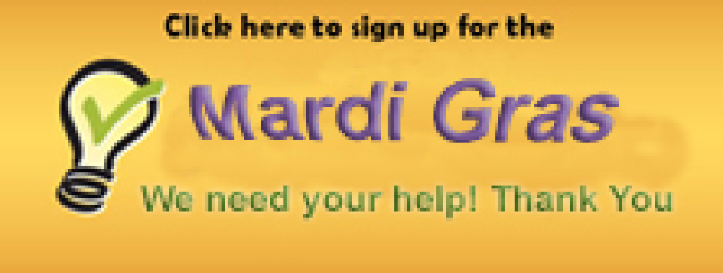 Sign up to help at Mardi Gras