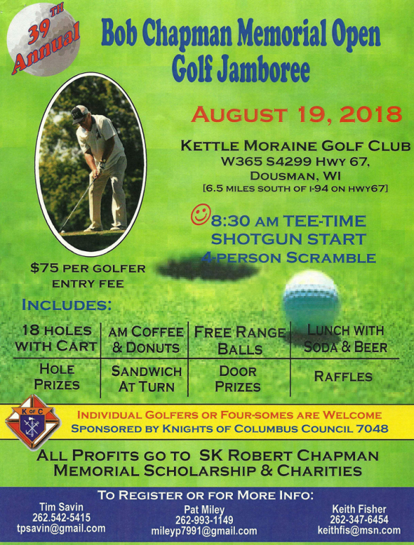 Bob Chapman Memorial Open Golf Jamboree