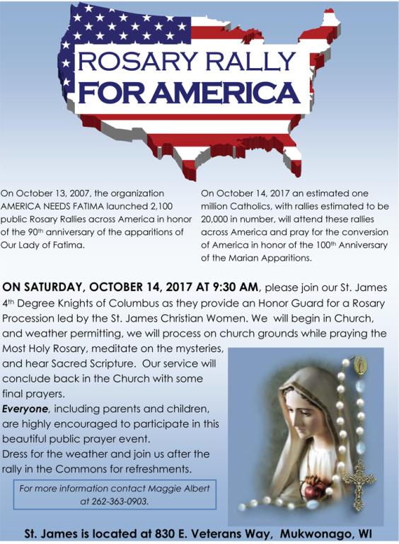 St James Rosary Rally