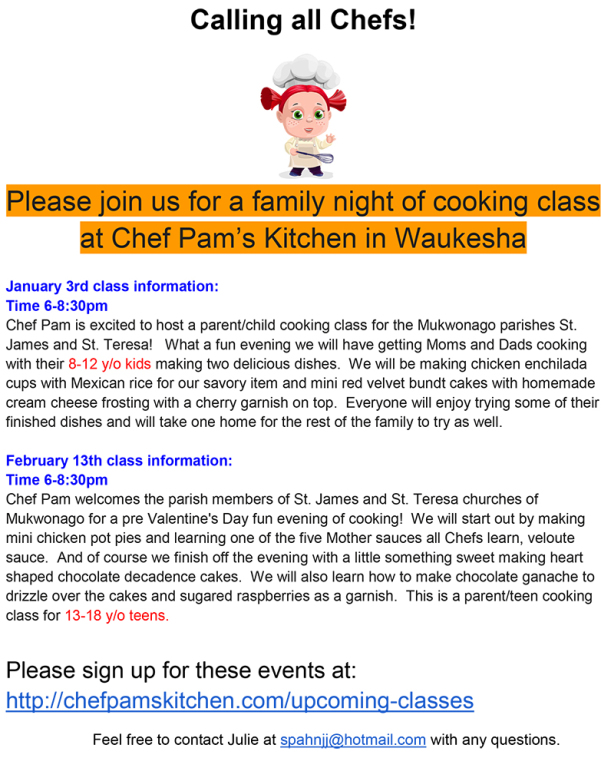 Pam's Kitchen-RE Family Cooking Event