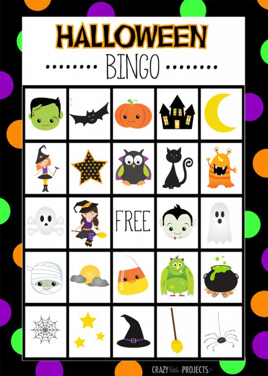 St James Halloween Bingo