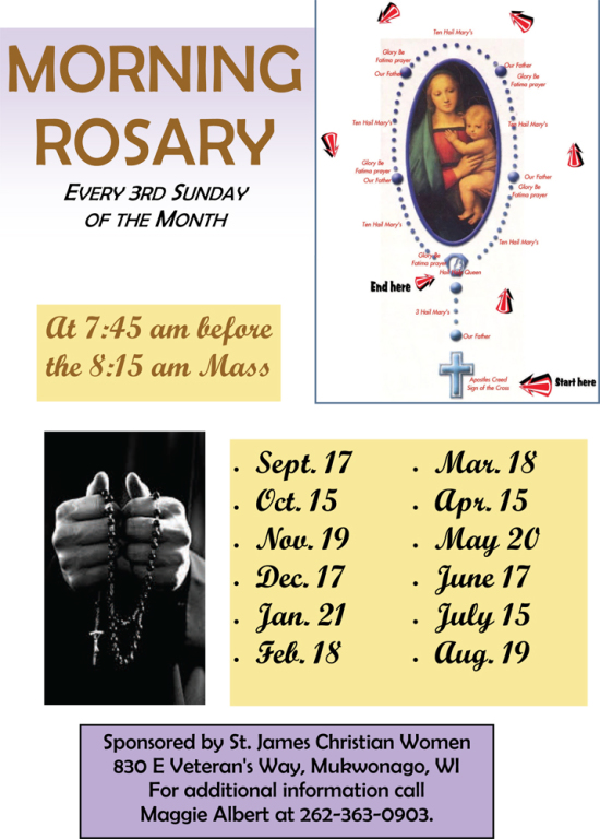 Morning Monthly Rosary