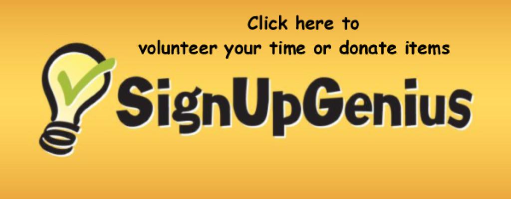 Sign up Genius volunteer and donate