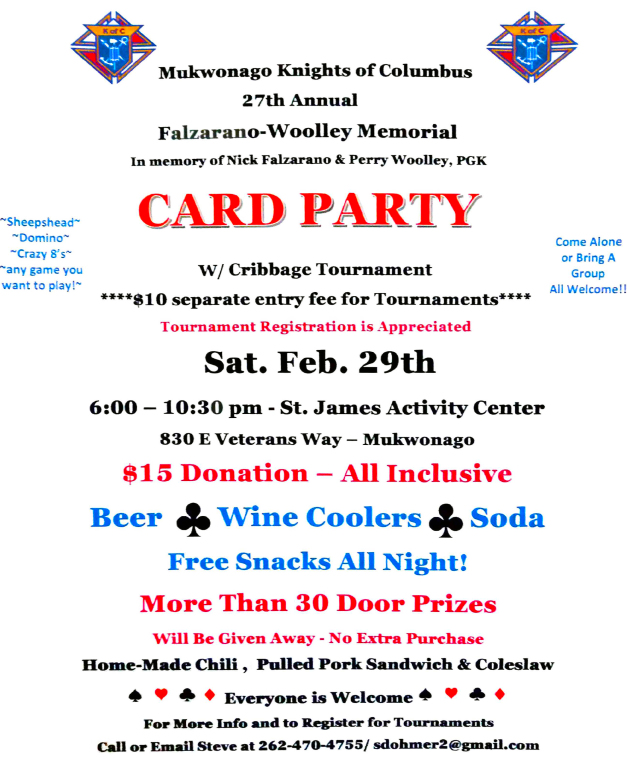 KC Annual Card Party 2020