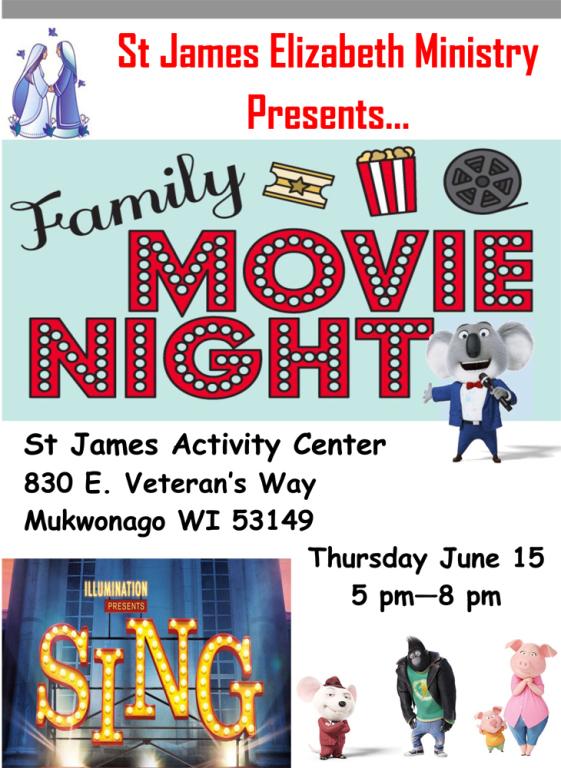 Elizabeth Ministry Family Movie Night