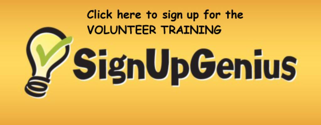 SignUpGenius Volunteer Training