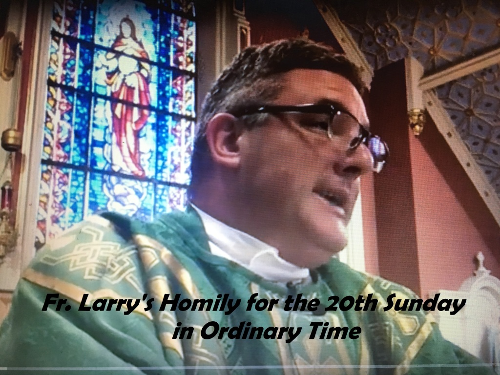 Homily for Twentieth Sunday in Ordinary Time