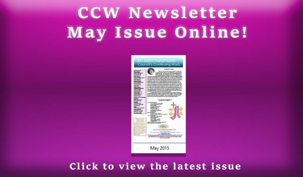 CCW Newsletter May 2015.