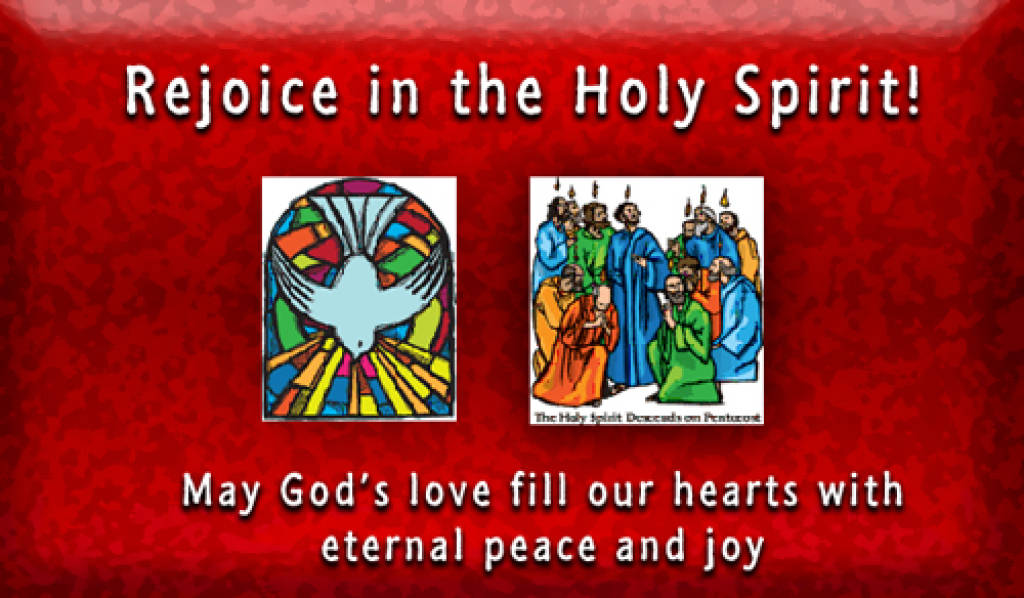 Rejoice in the Holy Spirit! May God's love fill our hearts with eternal peace and joy.