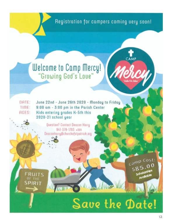 Camp Mercy 2020 Flyer