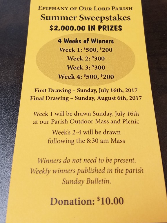 Summer Sweepstakes 2017