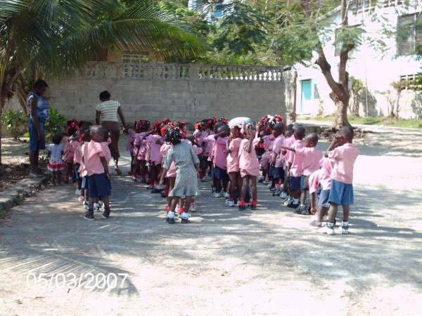 School Children on Campus
