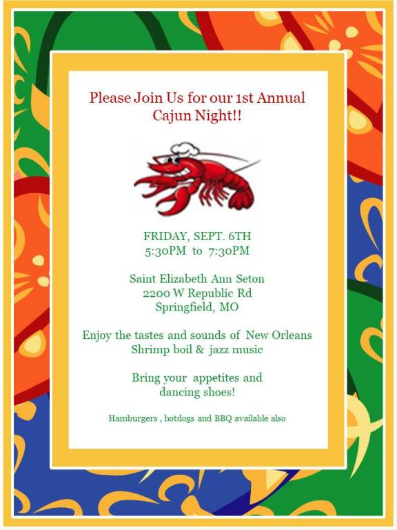 New this year at Harvest Home- Cajun Dinner