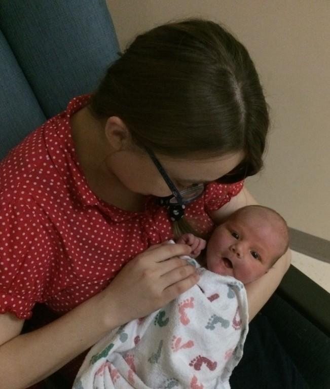 Oksana and the baby