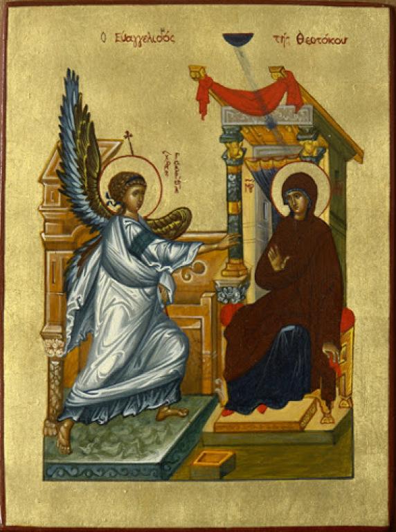 Annunciation. Modern Icon by Irina Bogdanova