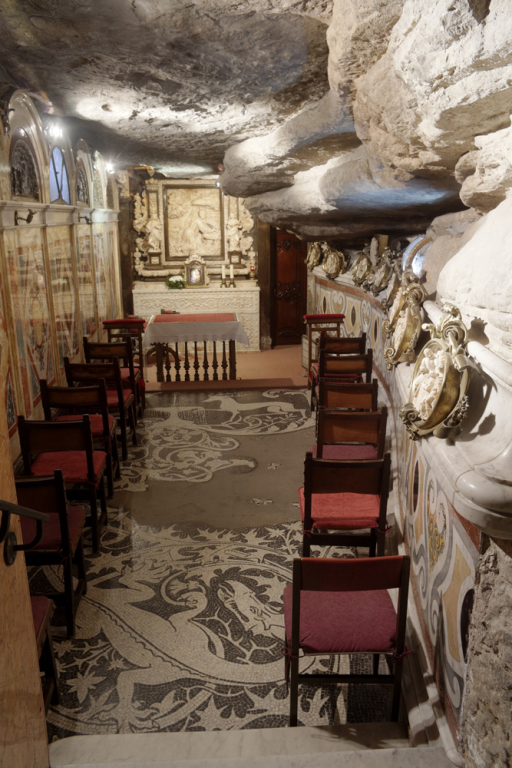 Chapel in the Cave of Saint Ignatius where Ignatius practiced ascetism and conceived his Spiritual Exercises