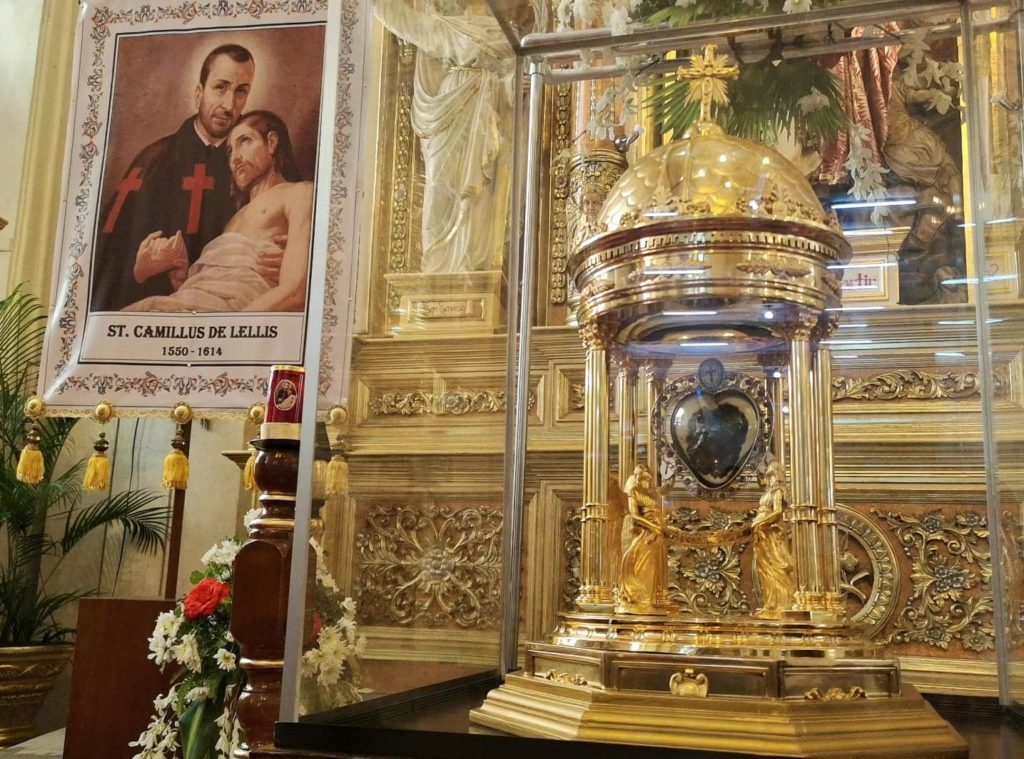 The relics of St. Camillus`s heart